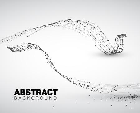 geometria: Fondo blanco y negro abstracto hecho de puntos y círculos. Geometría abstracta. Resumen de la forma geométrica. Vectores