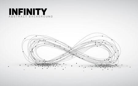 geometria: Fondo blanco y negro abstracto hecho de puntos y círculos. Geometría abstracta. forma abstracta geométrica infinita.