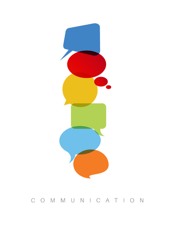 communication concept: abstract Communication concept illustration - vertical communication version