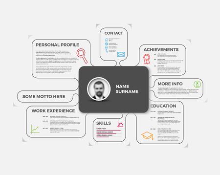 photo icon: original minimalist cv  resume template - creative version
