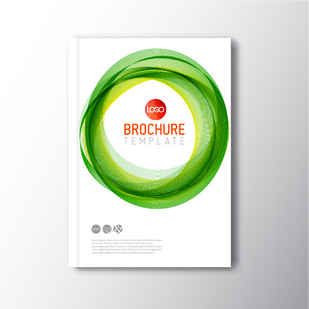 abstract circles: Modern abstract brochure  book  design template with abstract green circles