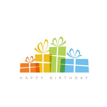 birthday presents: Happy birthday fresh illustration with presents Illustration