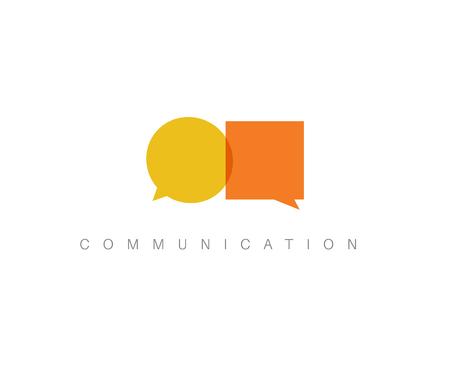 dialogo: abstracto concepto de comunicación ilustración - dos globos de texto