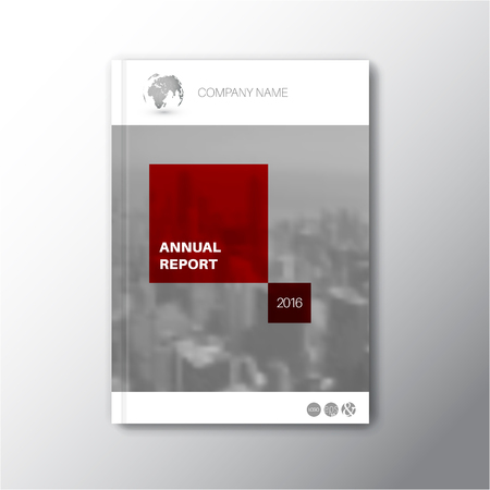annual report: Modern abstract brochure  book  design template abstract city photo