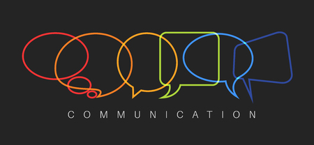 transnational: Vector abstract Communication concept illustration - dark communication version