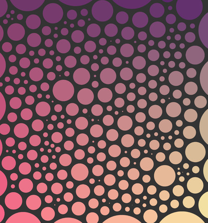 spacing: Abstract geometry background made from circles (with same spacing) on dark background