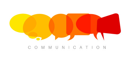 Vector abstract Communication concept illustration - yellow to red version