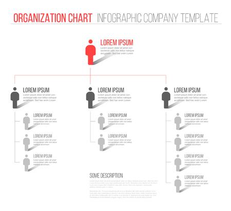 조직: Minimalist company organization hierarchy 3d chart template