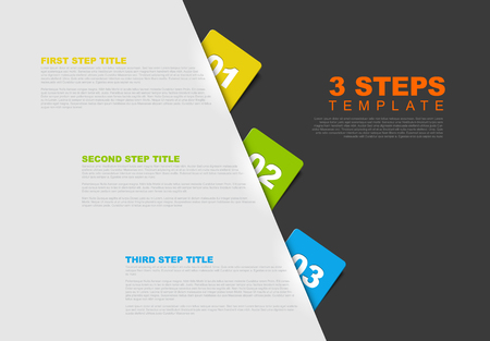 describing: One two three - vector progress template for three steps Illustration