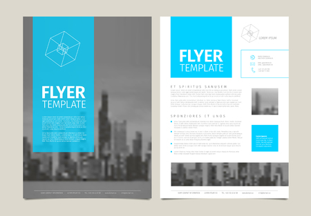 catalog: Modern business corporate brochure flyer design vector template with photos and sample content