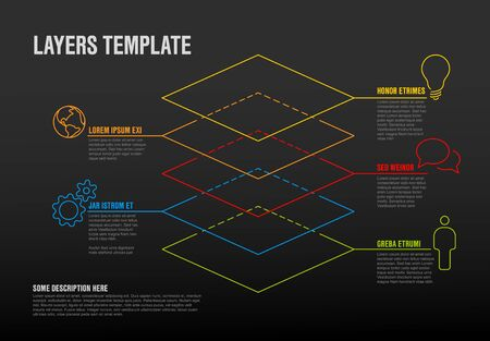 Infographic layers template.