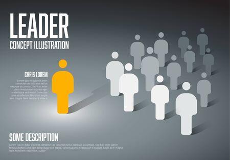 Ilustración de concepto de líder de equipo.