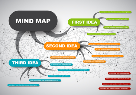 Abstract mind map.