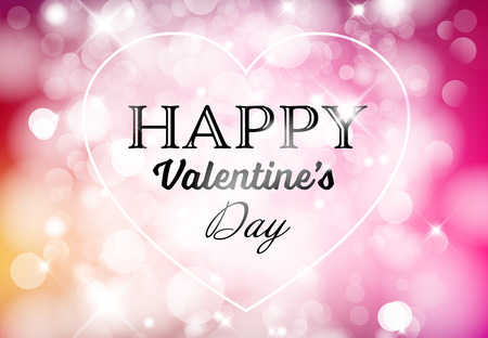 Vector Happy Valentines card with love text