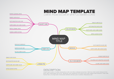 Vector abstract mind map info-graphic template with place for your content.