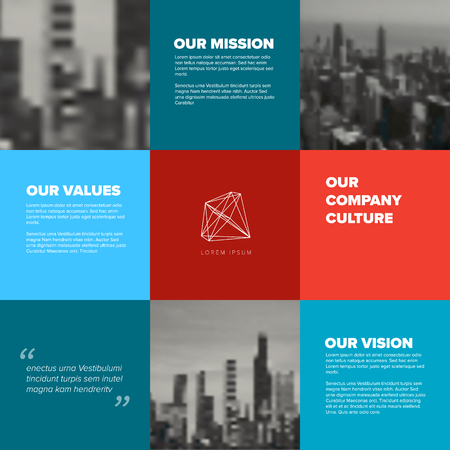 Company culture template - corporation mission, vision and values