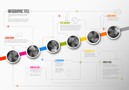 Infographic business Milestones Timeline Template  イラスト・ベクター素材