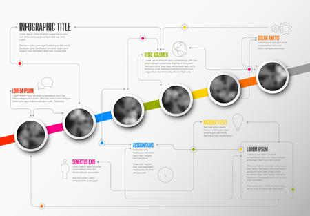 Infographic business Milestones Timeline Template 矢量图像