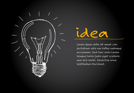 Great Creative Idea - minimalist concept vector ilustration template - dark version