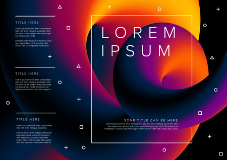 Modern vector flyer poster template with sample content - horizontal version