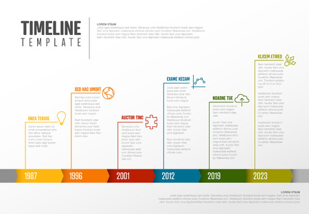 Vector Infographic Company Milestones Colorful Timeline Template