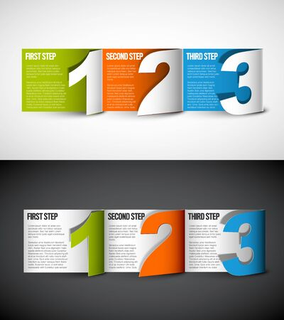 Vector Paper Progress background  product choice or versions - two color options
