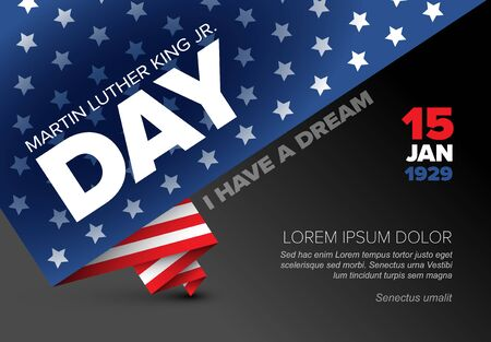 Martin Luther King jr. day poster template layout with place for your text