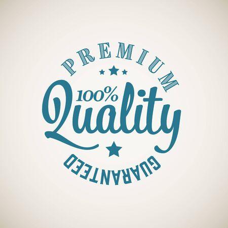 Vector retro premium quality blue detailed stamp Illustration