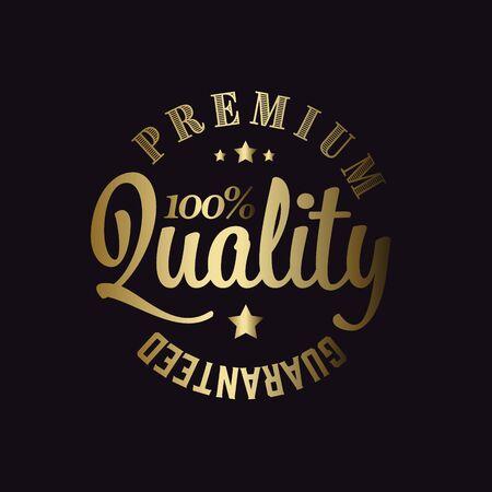 Golden Vector retro premium quality detailed stamp Illustration