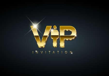Vector VIP club membership invitation template - golden premium version