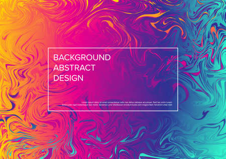 Modern vector art background template with fresh oil colors and frame with sample heading content Illustration