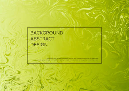 Modern vector art background template with fresh green colors and frame with sample heading content