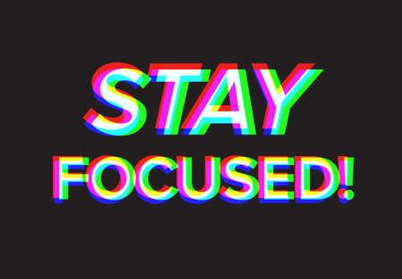 Stay focused motivation quote - dark version