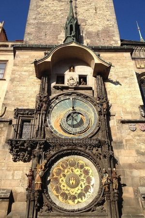 detail: Astronomical clock Stock Photo