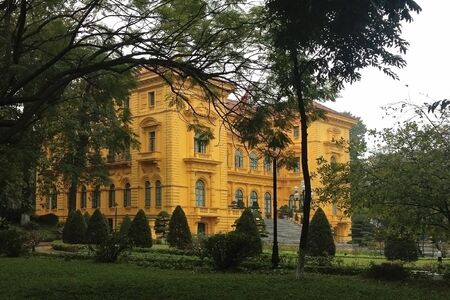 architectural: Presidential palace in Hanoi Vietnam