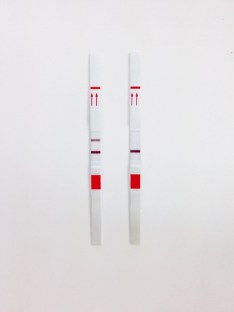pictures of negative pregnancy test strips
