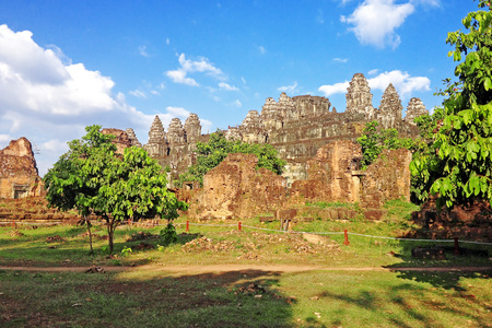 Phnom bakheng Temple,Angkor , Siem reap, Cambodia.