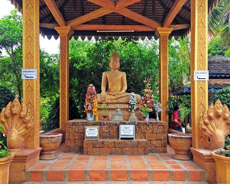 siem reap: Buddha statue in Wat Thmei,siem reap ,Cambodia