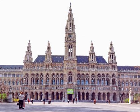 rathaus: Vienna, Austria - 21 March, 2014 : City Hall of Vienna (Rathaus), Austria Editorial