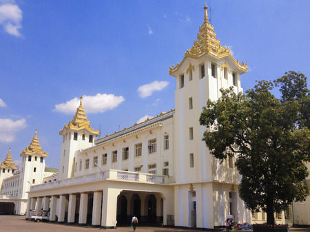 Building of the main railway station. Burma Railways is the state-owned agency that operates the railway network in Myanmar.