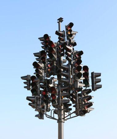 Many traffic lights Reklamní fotografie - 63158040