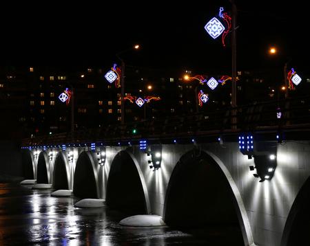 lighted: Lighted bridges in Chelyabinsk