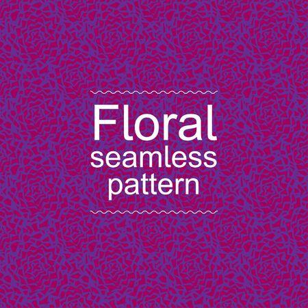 violet red: Red violet floral seamless pattern
