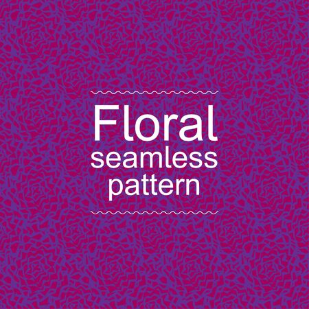 Red violet floral seamless pattern