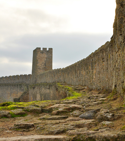 ramparts: Moss-covered wall of the old Akkerman fortress