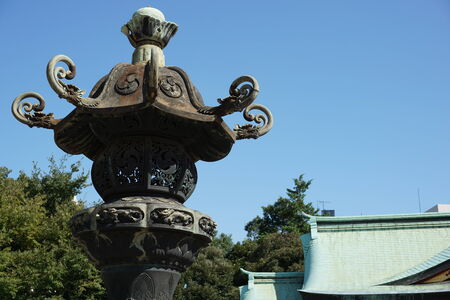 shinto: garden lantern in shinto shrine