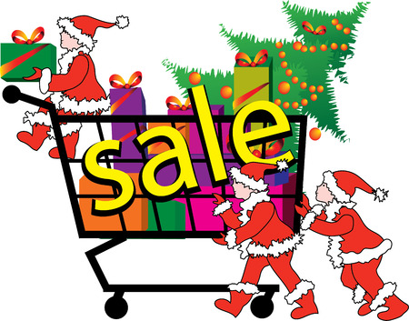 sale - Christmas little elves driven truck with gifts