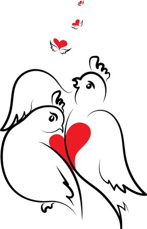 lovebirds: love song for the beloved Illustration