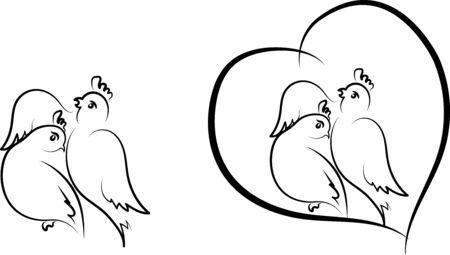 lovebirds: Valentine - birds