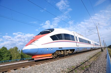 peregrine: High-speed commuter train. Express Peregrine Russia. Train Sapsan